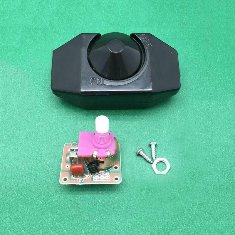 220 V Black  Adjustable Controller LED Dimmer Switch For Dimmable Light Lamp