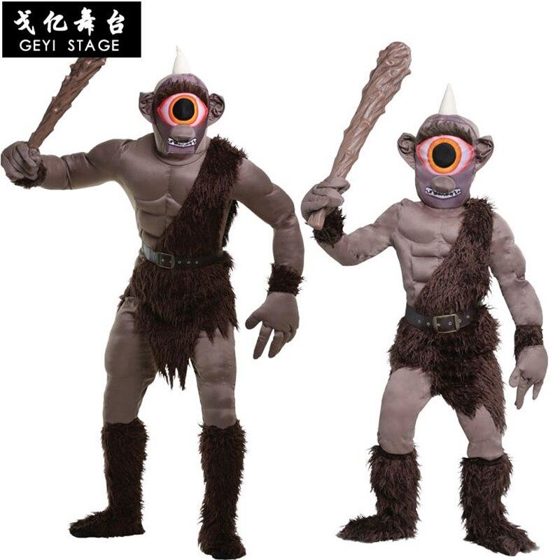 Halloween Onesie Animal Cosplay Adult Kid Anime Savage Giant Cartoon Monster Costume Overall One Eye Scary Jumpsuit Carnival