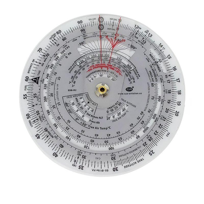 E6B Aviation Round Shape Circular Vector Flight Measuring Computer Calculator Y51B
