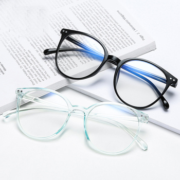 2020 Trends Office Anti Blue Light Oversized Retro Computer Glasses Women Blue Blocking Gaming Big Size Men Eyeglasses Frame image