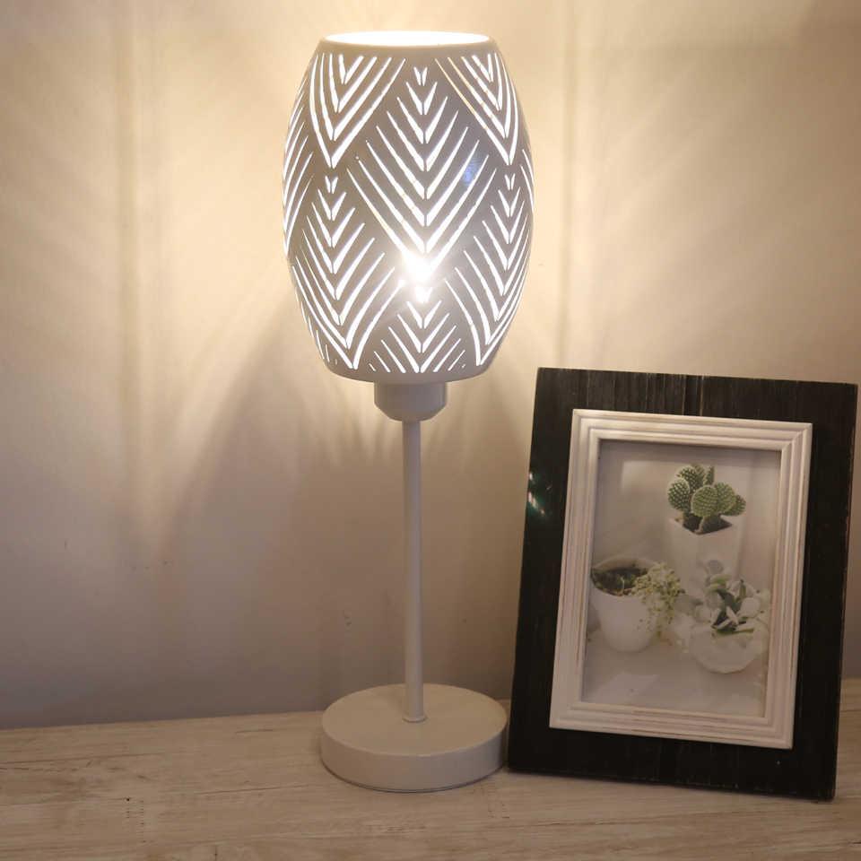 E27 On/off LED 테이블 램프 침실 장식 침대 옆 램프 테이블 등불 소녀 침실 장식 실내 조명