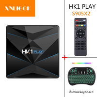Hk1 jogar android 9.0 quad core 64bit smart tv box 2.4g & 5 ghz wifi duplo bt4.0 2g + 16g/4g + 32g/4g + 64 conjunto caixa superior|Conversor de TV| |  -