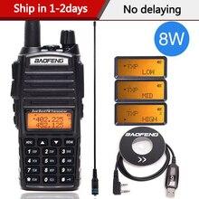 Baofeng UV 82 artı 8 watt yüksek güç Walkie Talkie çift bant VHF/UHF 10km uzun menzilli UV82 iki yönlü amatör CB amatör taşınabilir radyo