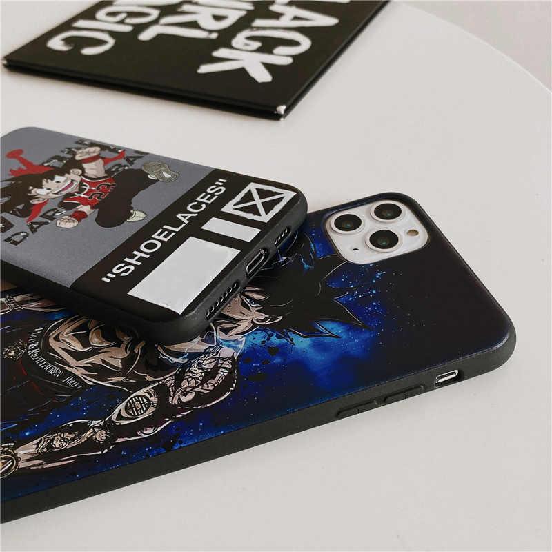 Sang Trọng Hoạt Hình Thương Hiệu Silicone Dành Cho iPhone 11 Pro Max XS XR 8 7 6S Plus IPhone11 11Pro 8plus GG Mềm Điện Thoại Logo Coque