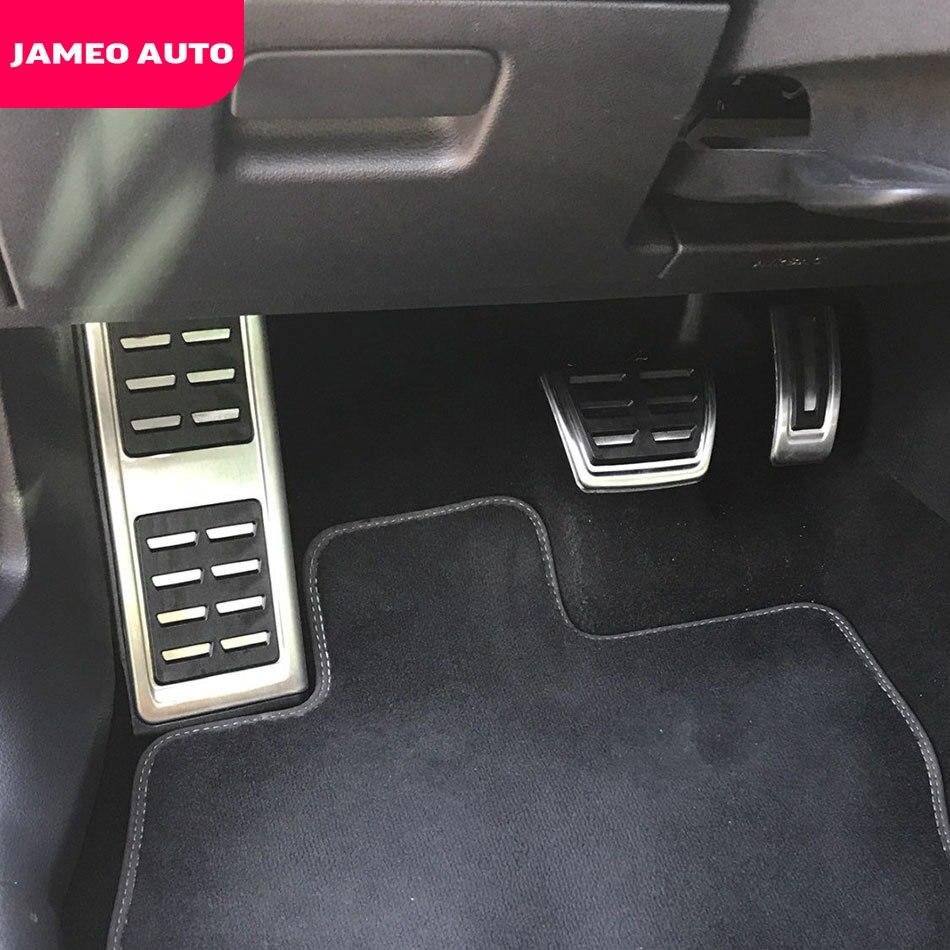 Jameo Auto Edelstahl Auto Kraftstoff Bremspedal Rest Fuß Pedale Abdeckung für Volkswagen VW Skoda Kodiaq 2016 2017 2018 2019 2020