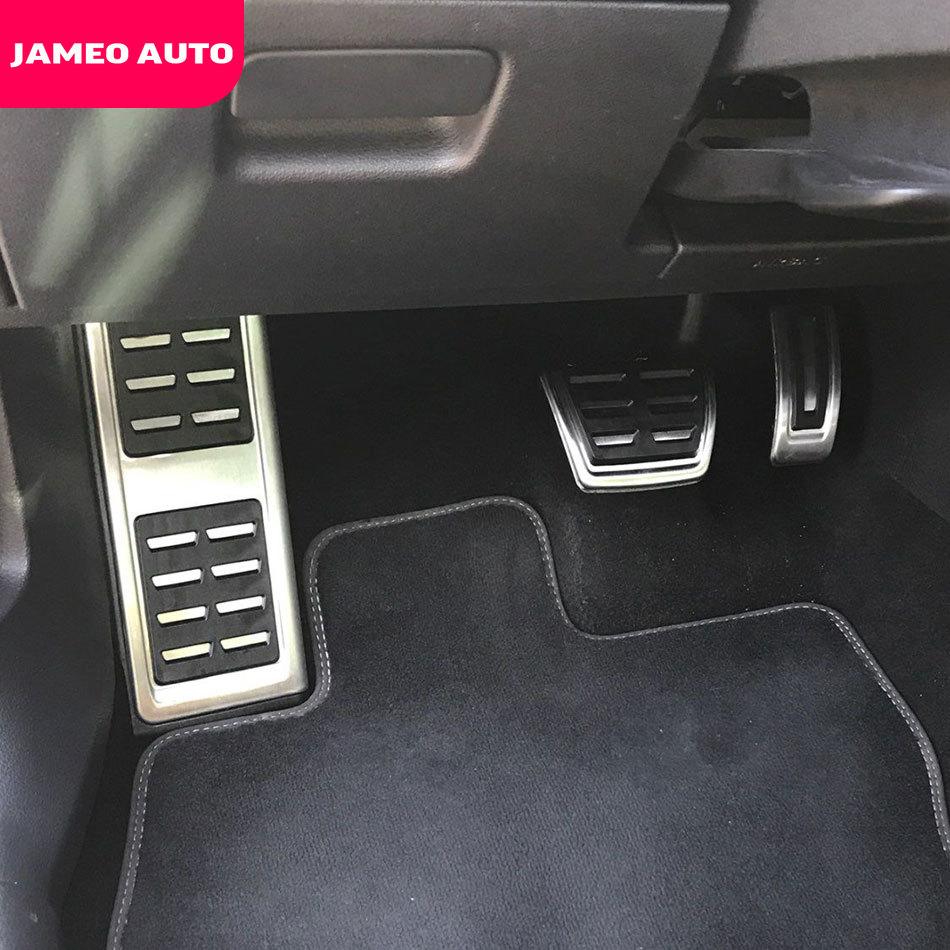 Jameo Auto In Acciaio Inox Auto Carburante Pedale Del Freno Resto Del Piede Pedali Copertura per Volkswagen VW Skoda Kodiaq 2016 2017 2018 2019 2020