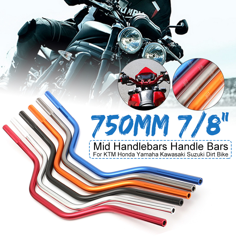Motorcycle Handlebars Drag-Bar Dirt-Bike Universal KTM Kawasaki Yamaha Suzuki Honda 22MM title=