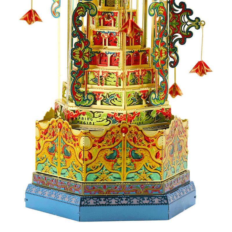 3D DIY لغز معدني نموذج برج بابل متعددة قطع بانوراما أفضل الهدايا لمحبي الأصدقاء جمع الأطفال الألعاب التعليمية
