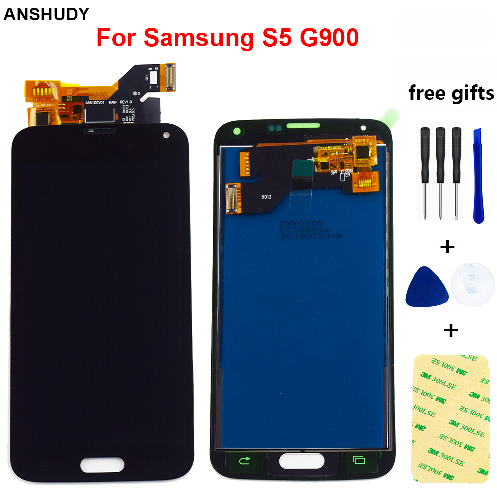 Für <font><b>Samsung</b></font> <font><b>Galaxy</b></font> <font><b>S5</b></font> Display Touchscreen Digitizer Montage Für <font><b>Samsung</b></font> <font><b>Galaxy</b></font> <font><b>S5</b></font> G900F <font><b>LCD</b></font> Display <font><b>G900</b></font> SM-<font><b>G900</b></font> SM-G900F <font><b>LCD</b></font> image