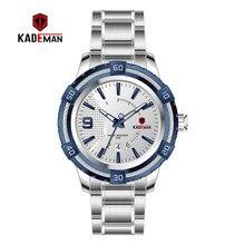 KD6173L Топ люксовый бренд Kademan новые женские деловые часы с полностью стальным ремешком Модные женские Кварцевые водонепроницаемые наручные часы с календарем