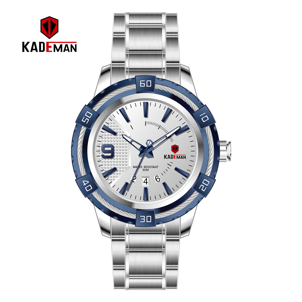KD6173L Top Luxury Brand Kademan New Womens Business Watch Full Steel Strap Fashion Lady Quartz Calendar Wristwatch WaterproofWomens Watches   -