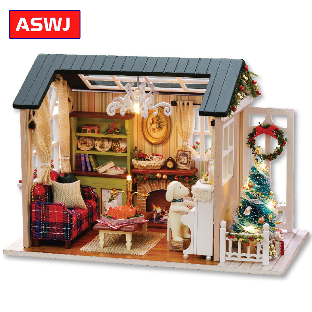 New DIY Miniature Dollhouse With Furnitures Wooden House Cutebee Roombox Toys For Children Classic Birthday Christmas Gifts