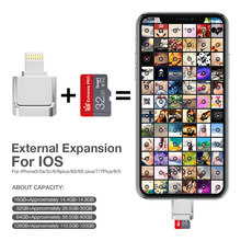Mini pendrive flash usb para iphone 6/6s/6plus/7/7plus/8/x usb/otg/lightning 2 em 1 pen drive para leitor de cartão adaptador ios