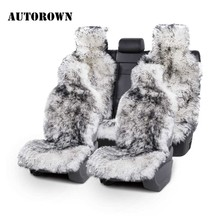 Car-Seat-Cover Australian-Sheepskin Auto-Interior-Accessories AUTOROWN Winter for 1 1set