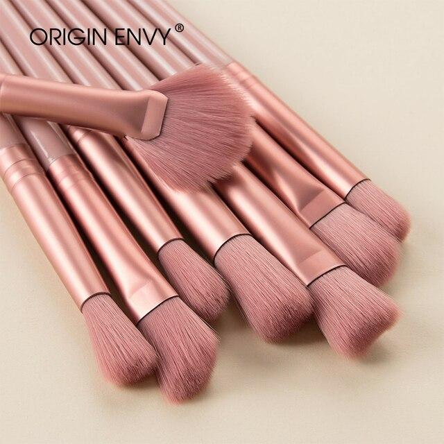 Origem inveja 12 pçs novo produto conjunto de escova de maquiagem escova de olho maquiagem pequena escova em forma de ventilador multifuncional ferramenta de beleza 5