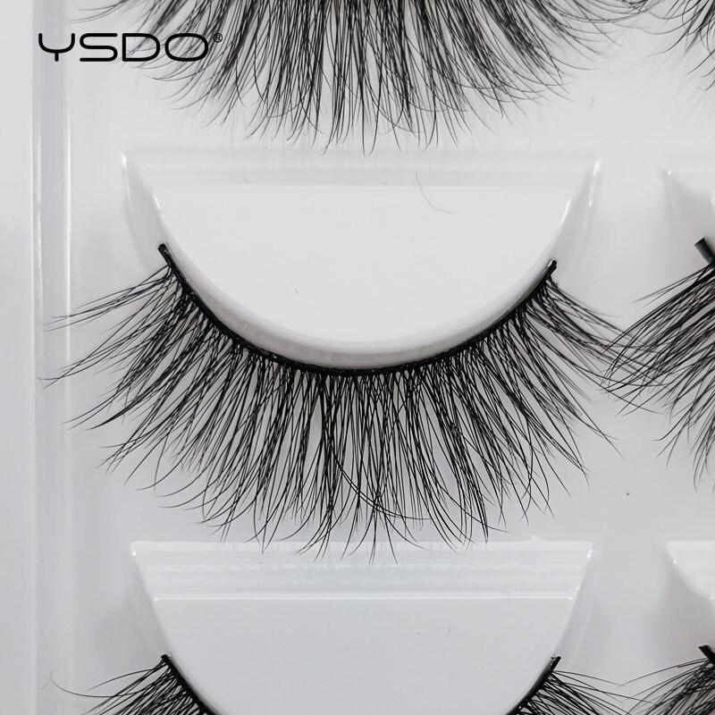 Image 3 - YSDO 5 pairs 3d mink lashes natural long mink eyelashes lashes maquillaje eyelash extension faux cils volume false eyelashes G5-in False Eyelashes from Beauty & Health