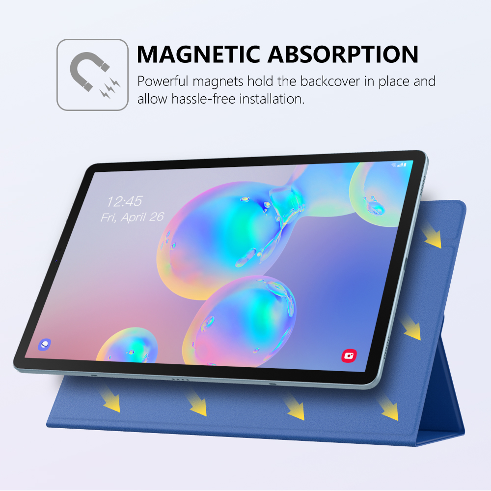 Smart Folio Case For Samsung Galaxy Tab S6 10.5 2019,Slim Lightweight Smart Shell Stand Cover,Strong Magnetic Adsorption For Tab (9)