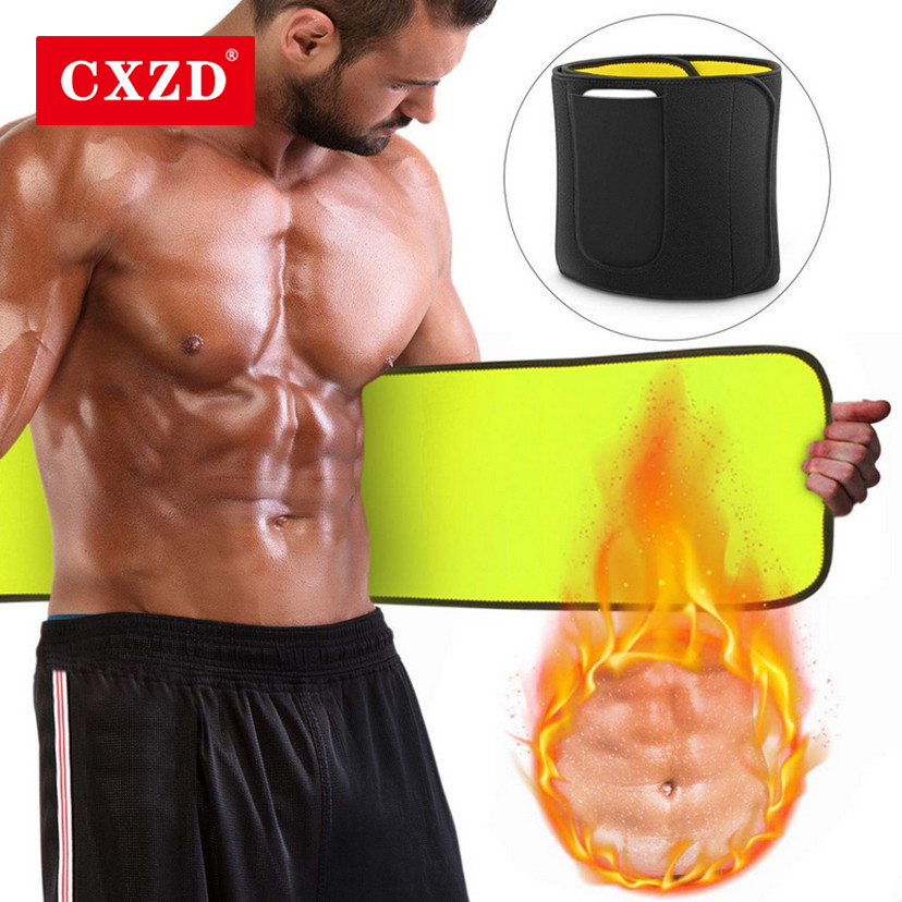 CXZD New Men Sauna Waist Trainer Man Neoprene Slimming Belt Shaper Tummy Reducing Body Shapers Promote Sweat Shapewear