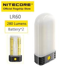 NITECORE LR60 походный светильник Мощность банк Зарядное устройство 280 люмен Перезаряжаемые Портативный светодиодный Фонари с 18650 Батарея для USB-C...