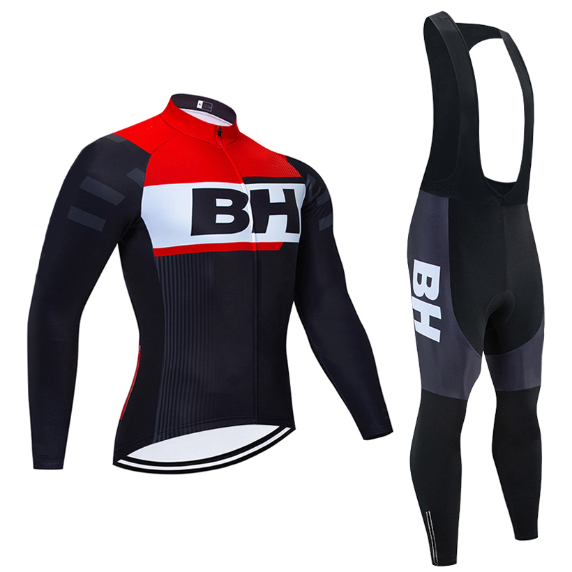 Winter 2020 Black BH TEAM Long sleeves Cycling JERSEY Bike Pants set mens Ropa Ciclismo Thermal Fleece bicycling Maillot Culotte|Cycling Sets| |  - title=
