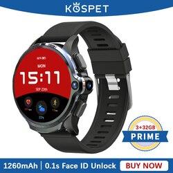 KOSPET PRIME 3GB 32GB Smartwatch dla mężczyzn 1260mAh Face ID 1.6