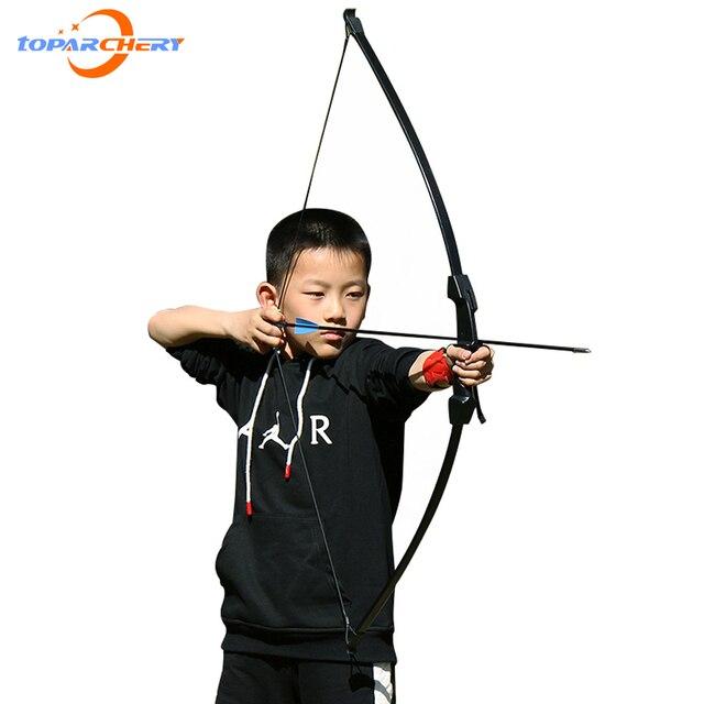Arco de tiro con 15 18lbs para niños, arco para jugar al aire libre, con flechas, accesorios de tiro con arco