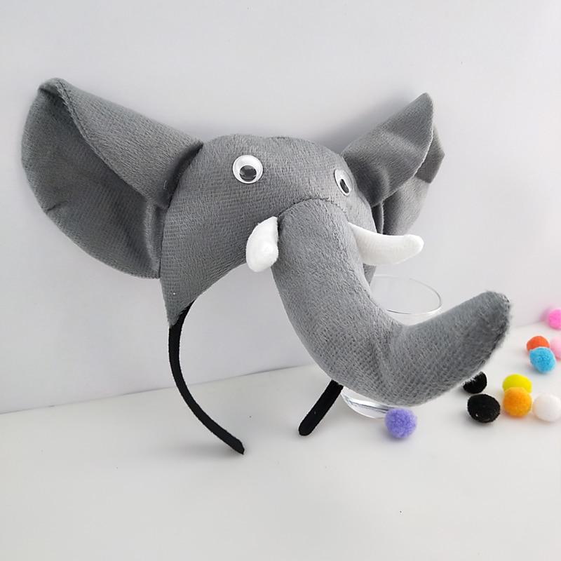 Garçon hommes filles Animal éléphant bandeau accessoires fête Costume Halloween noël carnaval chapeaux cheveux accessoires enfants mode