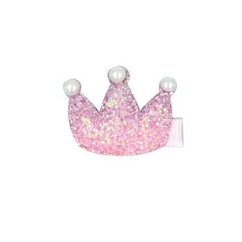 Baby Princess Crown Hairclips Women Hair Clip Pearl Hairpin Girls Hairpins Barrette Hairgrip Rainbow Bobby Pin Hair Accessories