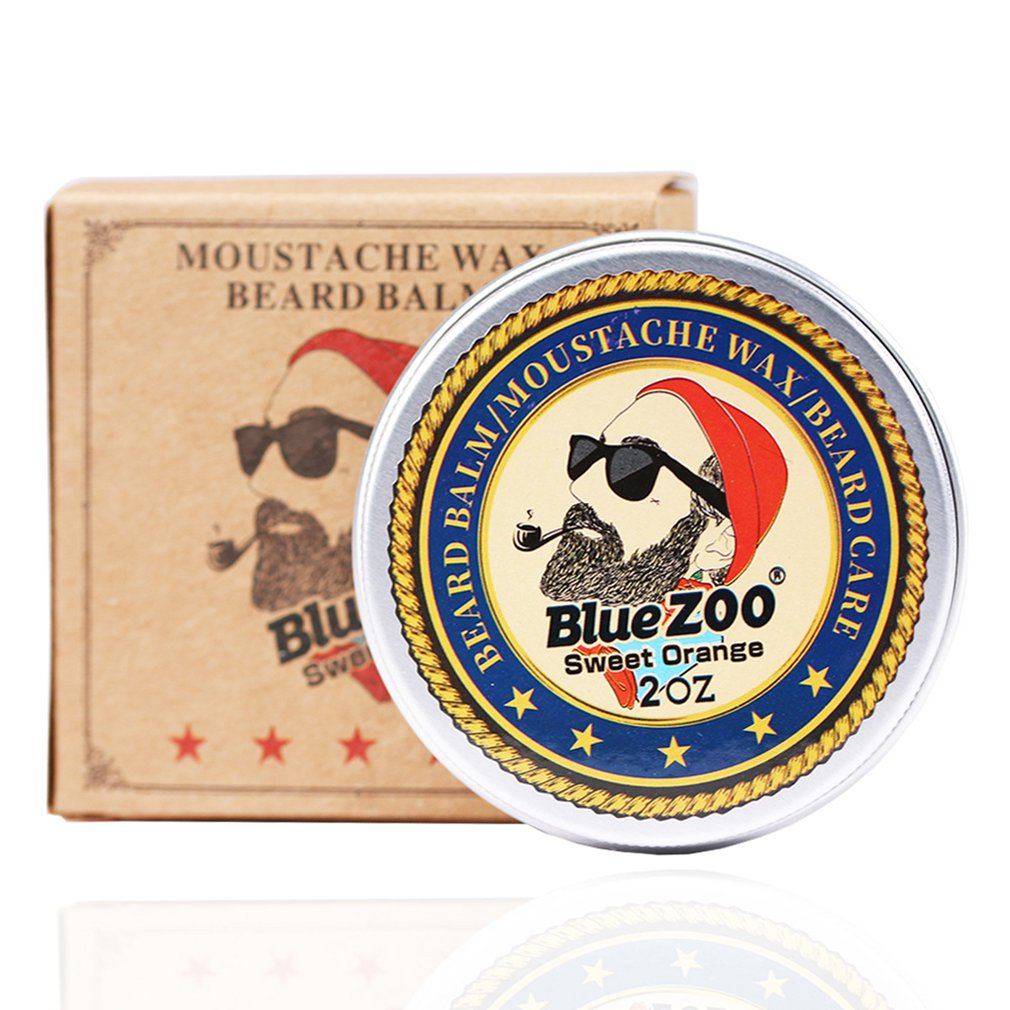 Portable Size Men Beard Oil Balm Moustache Wax For Styling Beeswax Moisturizing Smoothing Gentlemen Beard Care With Fragrance