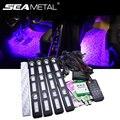 RGB цветная Автомобильная атмосферная светодиодные световые полоски  автомобильный Стайлинг  окружающий светильник  s комплект  автомобильн...