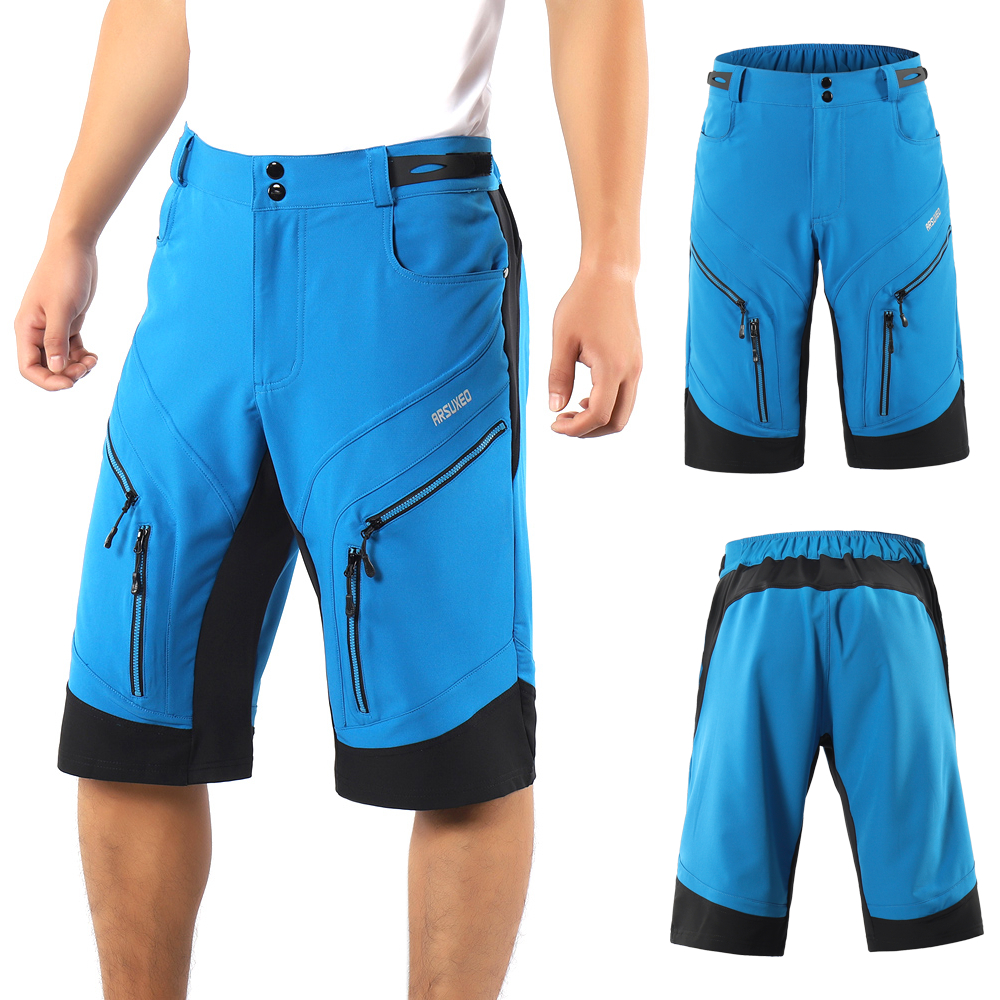 MTB Cycling Shorts Men Mountain Road Bike Quick Drying Breathable Outdoor Sports Running Bike Casual Shorts with 6 Pockets Cycling Shorts     - title=