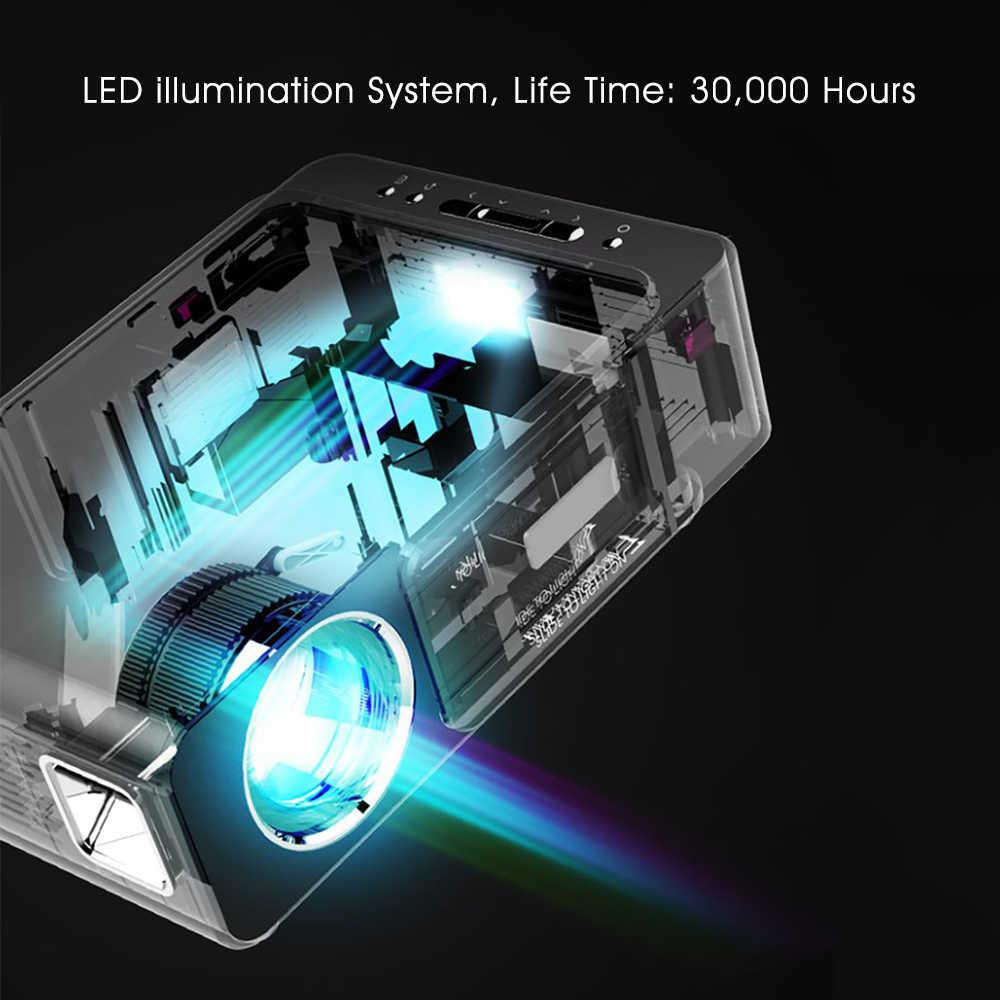 ALSTON T6 Full Hd Led Proyektor 4K 3500 Lumens HDMI USB 1080P Portable Bioskop Proyector Beamer dengan Misterius hadiah