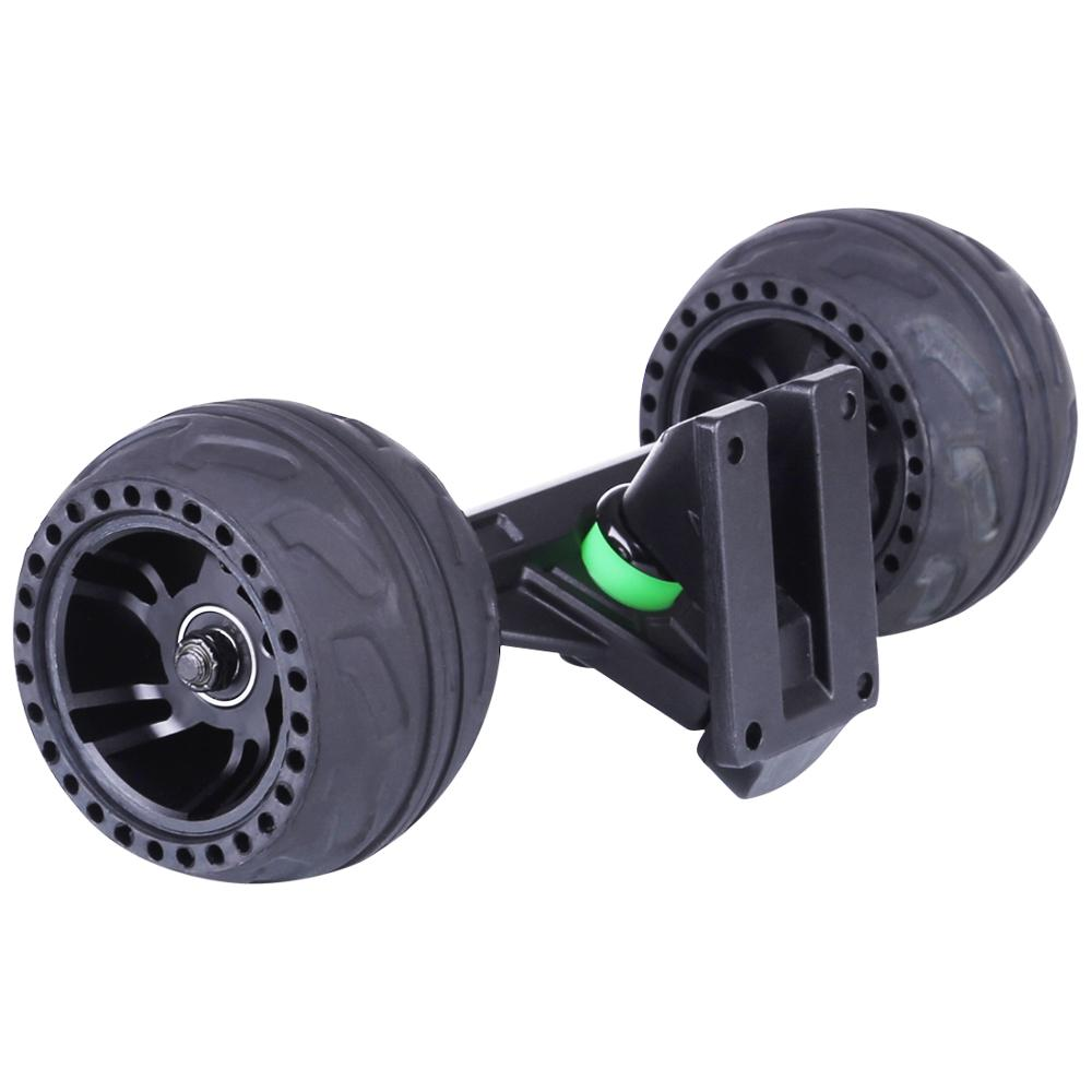 105LMH All Terrain Rubber Wheel With Kingpins Truck Accessories For Skateboard Outdoor Fun - Black/Red