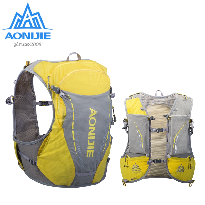 AONIJIE Outdoor Hydration Backpacks 10L Sports Pack Ultralight Running Vest Waterproof Bags For Camping Hiking Cycling Jogging