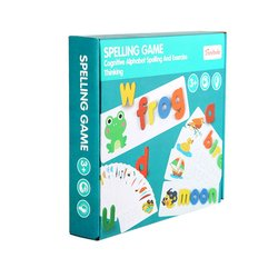 Spelling Word Puzzle Game Toy Sets English 26 Letters Recognition Alphabet Toddler Early Educational Cognition Props