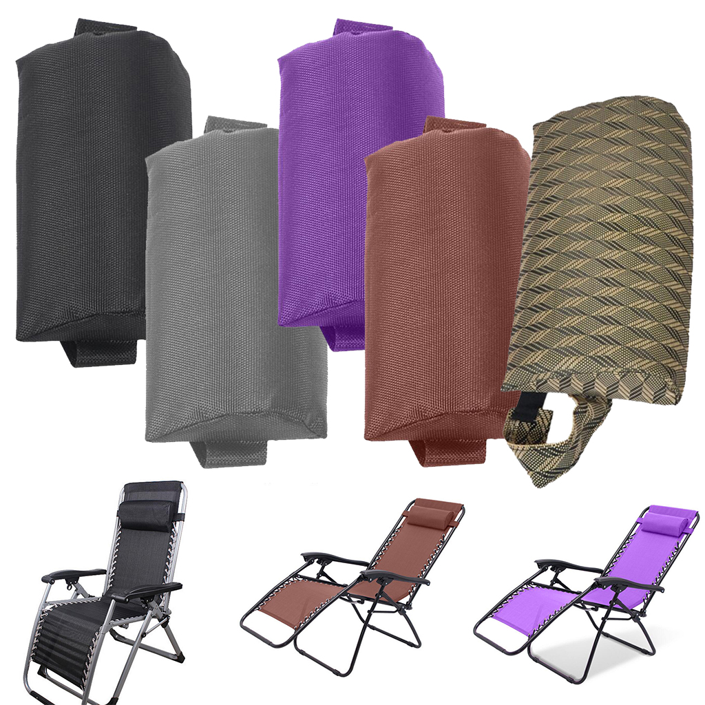 Headrest Head Cushion Pillow For Folding Beach Sling/Lounge Chairs For Backyard, Picnics, Beach - 5 Colors Optional