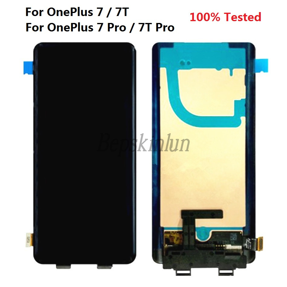 Bepskinlun For Oneplus 7 7T Pro Original LCD Display Touch Screen Digitizer Replacement For One Plus 7 T Pro 100% Tested