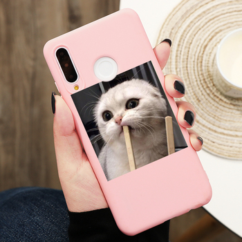 Cute Cat Silicon Cover For Huawei Honor 8X 9X 10i Mate 20 10 30 P40 P30 P10 P20 Lite Pro Y6 Y7 Y9 P Smart 2019 Z Phone Case Etui 2