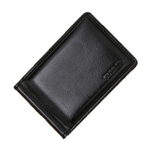 Men PU Leather Money Clips Wallets Coin No Zipper Pocket Sli