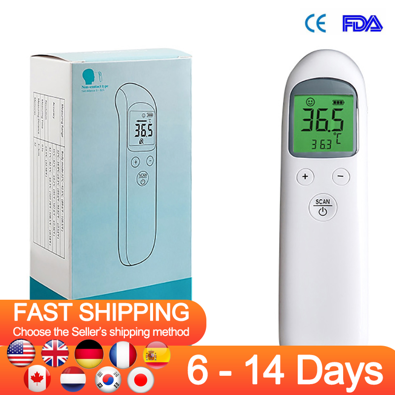 Infrared Thermometers Non-contact Forehead Thermometer LCD Digital Display Smart Calibration Temperature Gun For Baby Kids Adult