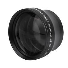Объектив Canera 2X увеличение высокой четкости Конвертер телеобъектив для 37 мм Крепление объектива камеры макрообъектив