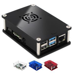 Image 3 - PMMA acrylic CASE BOX for Raspberry PI 4 Model B 1GB/2GB/4GB plastic enclosure housing shell cover of Raspberry PI 4 B PI4 4B