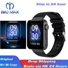 2021 M1 Смарт-часы с экраном 1,75 дюйма для phoneXiao mi HeartRate Bluetooth звонок Custo mi ze Dial для Mi Watch Design Copy PK P8
