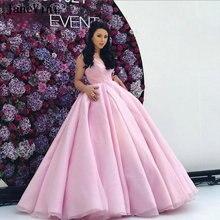 Элегантное розовое платье принцессы jaevini 2020 бальное с v