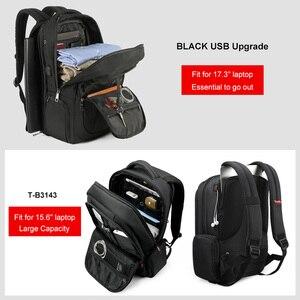 Image 5 - Tigernu Anti hırsızlık naylon 27L erkekler 15.6 inç Laptop sırt çantaları okul moda seyahat sırt çantası sırt çantası erkek Laptop çantası