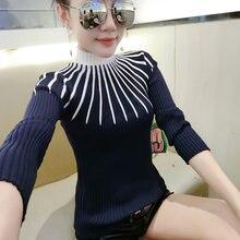 Женский свитер shintimes с высоким воротником осенние женские