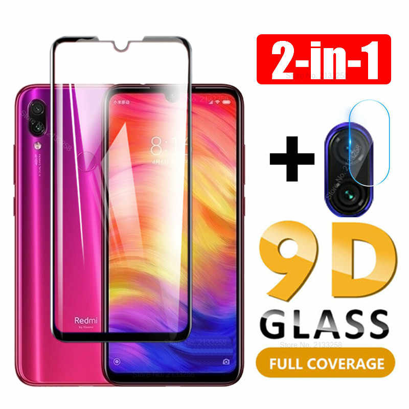 2 in 1 9D Tempered Glass Camera Lens Screen Protector For Xiaomi Mi 9T Mi 9 8 A2 A3 lite Redmi 7A K20 Note 5 6 7 Pro Cover Film