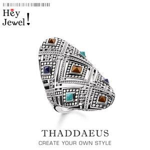 Image 1 - خاتم الحلي العرقية ، مجوهرات أنيقة بأوروبا جيدة للنساء ، هدية جديدة لربيع 2020 بوهيمي في 925 من الفضة الإسترليني ، عروض رائعة