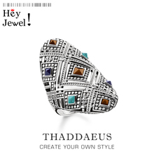 Etniczne ozdoby pierścień, europa moda dobra biżuteria dla kobiet, 2020 wiosna nowy czechy prezent w 925 srebro, Super oferty