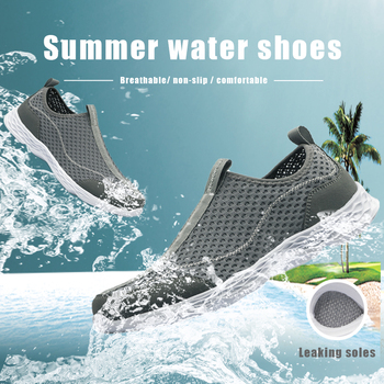 Outdoor Water Shoes Summer Breathable Men Swimming Sneakers Quick-Drying Aqua Beach Shoes Surfing Upstream Footwear Size 40-50 breathable quick drying aqua shoes mujer for beach women men five fingers water shoes unisex outdoor sneakers swimming shoes
